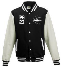 College Sweat Jacke schwarz/weiß